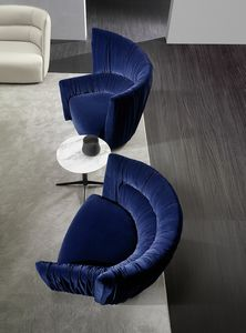 Odeon, Armchair with asymmetrical design