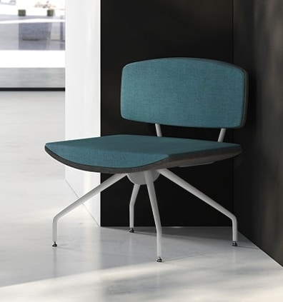 ONDA, Fixed upholstered armchair for waiting rooms