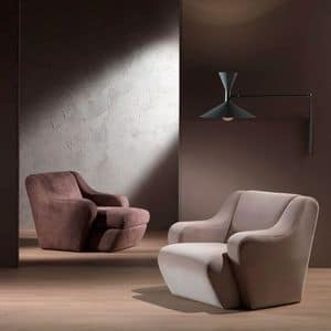 PO41 Morfeo, Comfortable armchair, upholstered with polyurethane foam