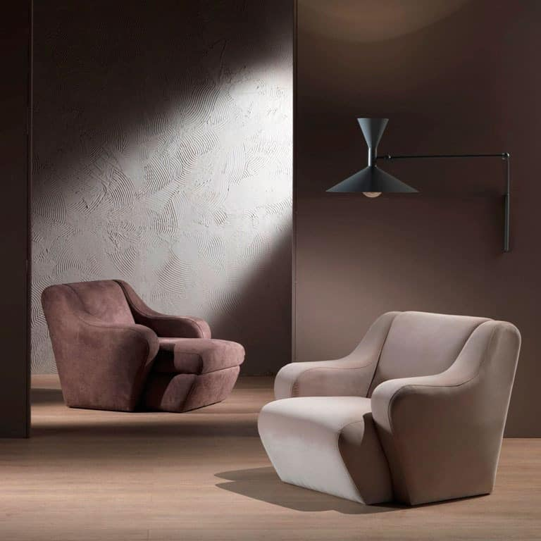 PO41 Morfeo armchair, Comfortable armchair, upholstered with polyurethane foam