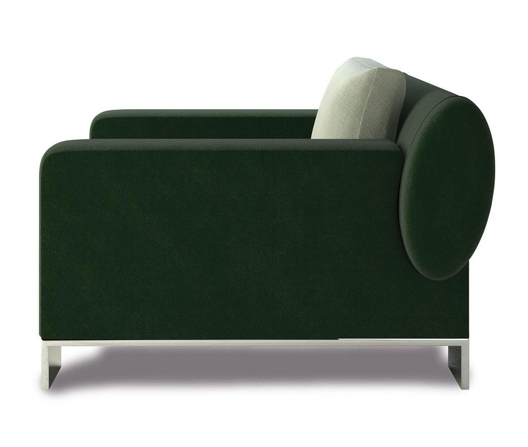Pollock, Armchair with metal feet