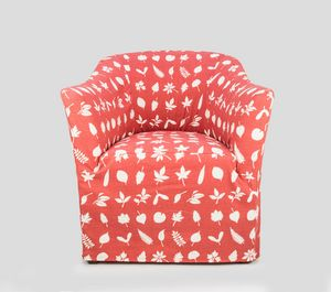 Pompidou, Upholstered armchair with customizable fabric