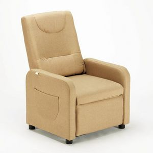 Relaxing Reclinable Armchair with Fabric Footrest ANNA Design - SR6203FE, Relax armchair in fabric
