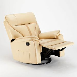Relaxing reclining armchair with rocking chair and 360 rotation in SISSI XL leatherette - SR683PEE, Relax armchair with rocking system