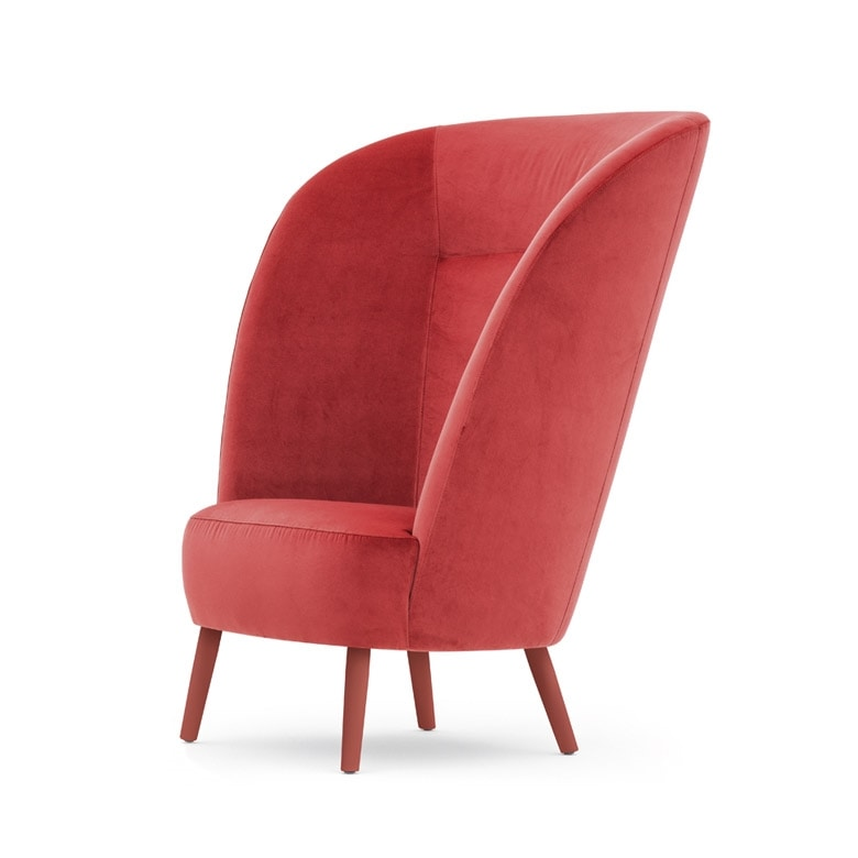 Rose 03043, Armchair with high backrest