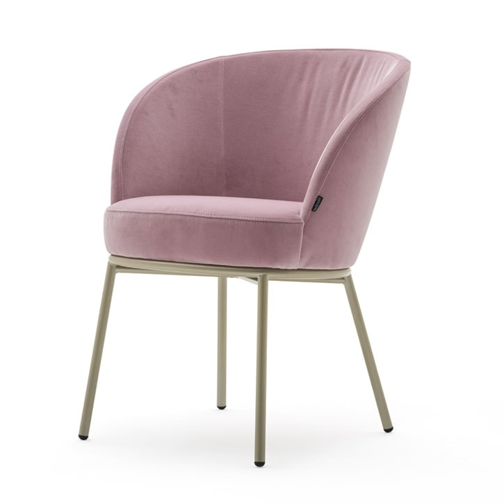 Rose 03930 - 03931 - 03934, Armchair with foamed shell