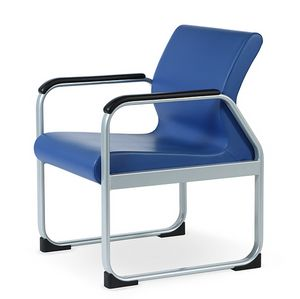 ONE 401 A, Chair with steel frame, streamlined shape
