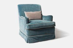 Selene, Fabric armchair with skirt