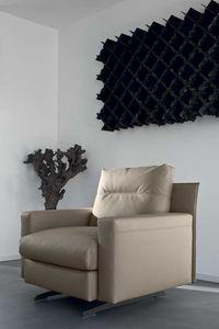SINFONIA, Modern leather armchair