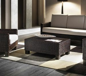 Small table Verano, Rectangular coffee table with woven structure