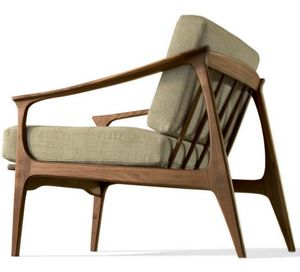 T-101, Armchair in walnut, with a refined design