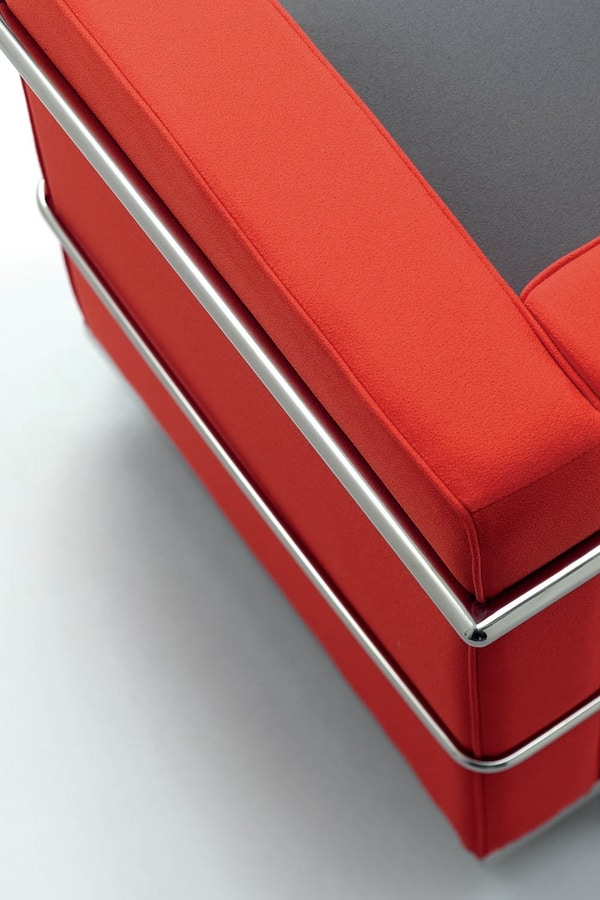 UF 160, Comfortable chair, chrome steel frame, for modern offices