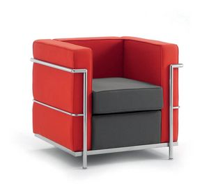 UF 160 - Replica, Comfortable chair, chrome steel frame, for modern offices