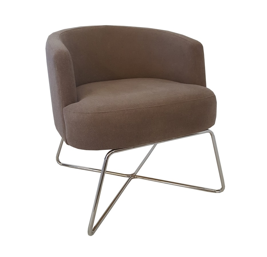 VIENNA LOUNGE METAL, Lounge armchair with metal base