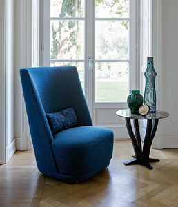 Vivien high, Armchair with high back