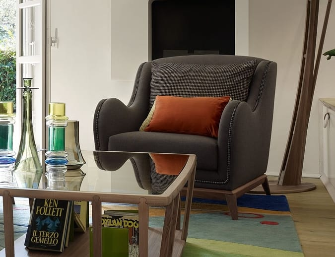 Wave armchair, Armchair for contemporary living rooms