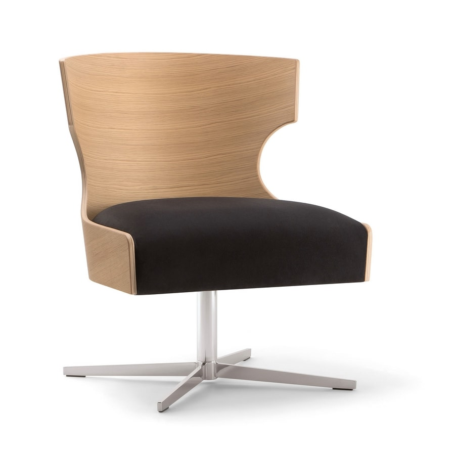 XIE LOUNGE CHAIR 052 P X, Armchair with plywood shell
