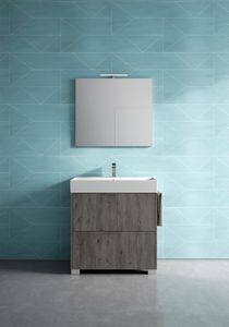 Basic comp.08, Freestanding bathroom cabinet, with small dimensions