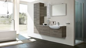 BLUES BL-01, Bathroom furniture with two doors column
