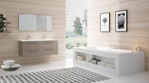 BLUES BL-09, Bathroom cabinet with 2 sinks