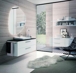 BLUES BL-11, Matt white bathroom cabinet