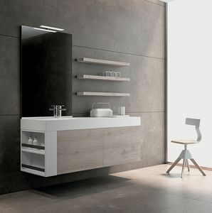 BLUES BL2.08, Complete composition for bathroom furniture