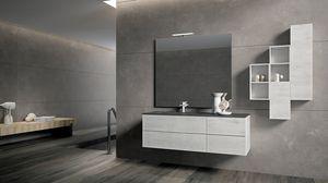 BLUES BL2.12, Mobile vanity unit in white color