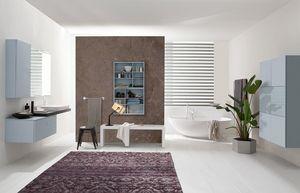 Byte 2.0 comp.07, Modular bathroom cabinet, modern style