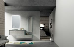 Dress 2.0 comp.02, Modular bathroom unit with wall units