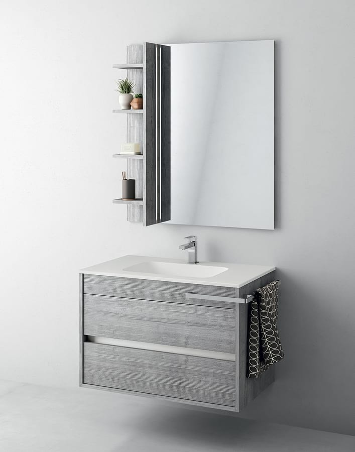 Bathroom Cabinet With Mirror And Storage Compartment IDFdesign - Bathroom compartment