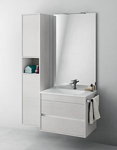 Duetto comp.06, Space-saving bathroom furniture with towel rail