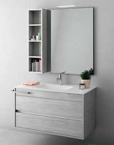 Duetto comp.09, Space-saving bathroom cabinet with drawers
