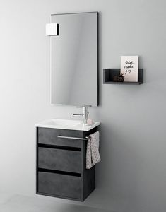 Duetto comp.15, Space-saving bathroom cabinet, modern style