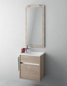 Duetto comp.16, Bathroom cabinet with small sink and mirror