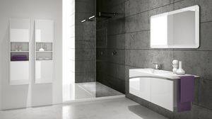 FLY 01, Bathroom furniture with wall columns