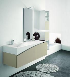 FLY 11, Bathroom furniture complete with wall unit
