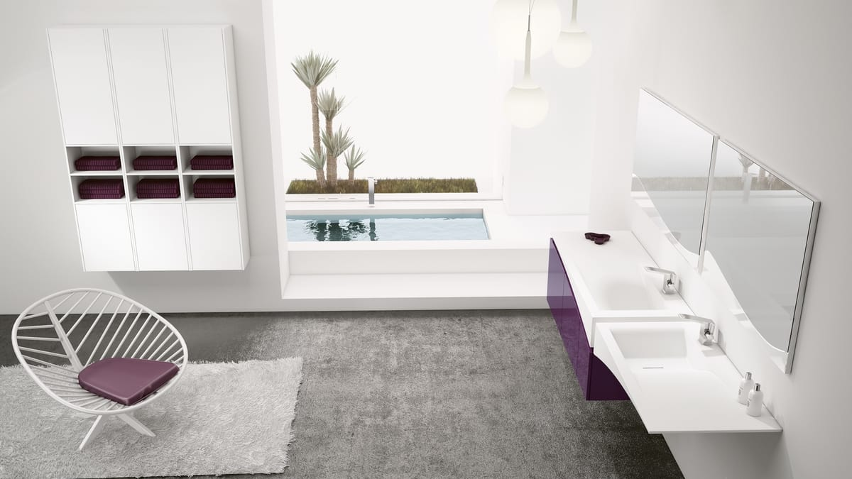 Delicieux FLY 14, Bathroom Furnishing Solution With Double Sink