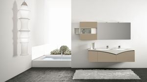 FLY 02, Bathroom cabinet with cabinets with piston opening