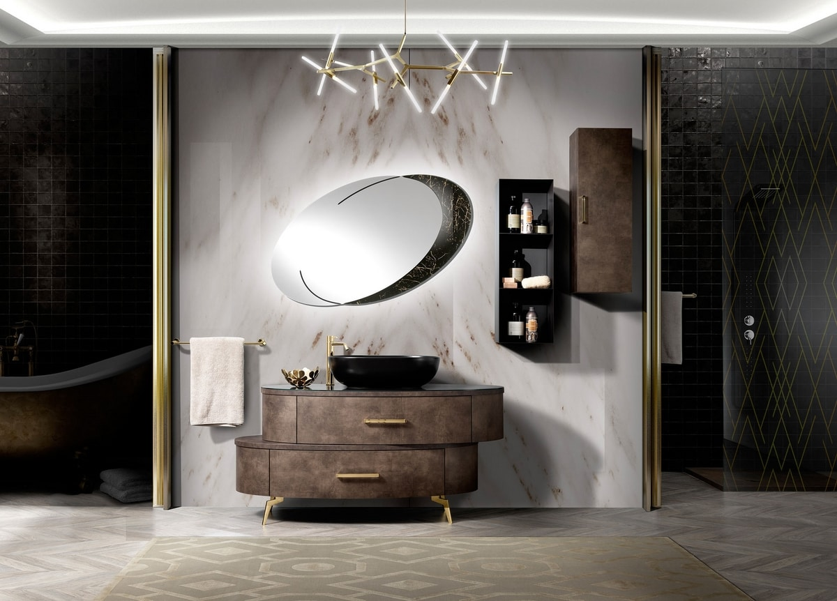 Incanto bathroom, Asymmetrical bathroom cabinet