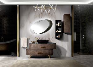 Incanto bathroom, Asymmetrical bathroom cabinet