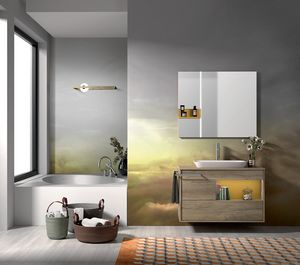 Lume comp.10, Bathroom composition with sink and tub