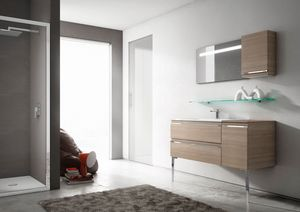 Mistral comp.02, Bathroom furniture with sophisticated design