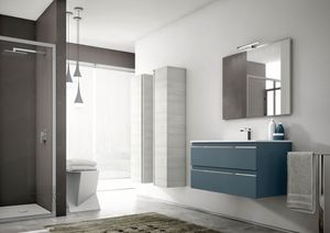 Mistral comp.04, Modern bathroom furniture, with storage columns