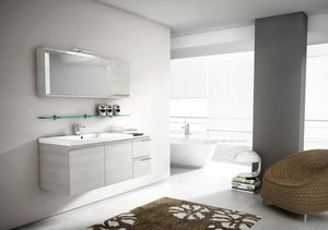 Mistral comp.08, Mirror with flap door, for bathroom furnishing