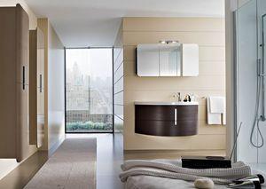 Moon comp.09, Bathroom furniture with mirror cabinet