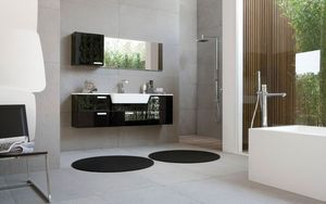 My Fly Evo comp.05, Contemporary bathroom furniture with low depth