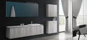 Plane Tecno 01, Simple and elegant bathroom furniture