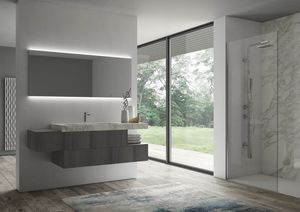Sense comp.07, Bathroom furniture with backlit mirror