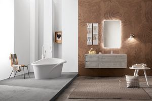 Summit 2.0 comp.08, Bathroom furniture set with mirror