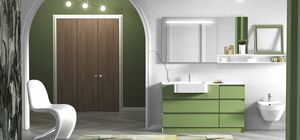 Torana TR 020, Green bathroom cabinet, with drawers